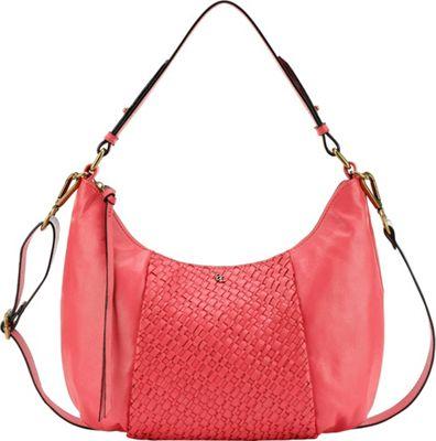 Elliott Lucca Intreccio Demi Hobo Coral - Elliott Lucca Designer Handbags
