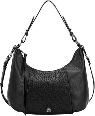 Elliott Lucca Intreccio Demi Hobo Black - Elliott Lucca Designer Handbags