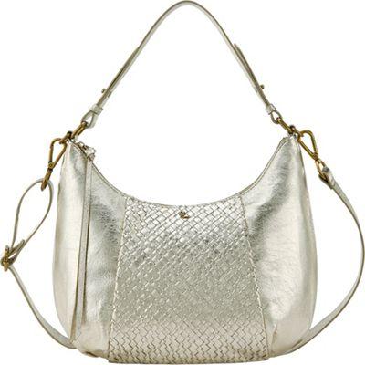 Elliott Lucca Intreccio Demi Hobo New Gold - Elliott Lucca Designer Handbags