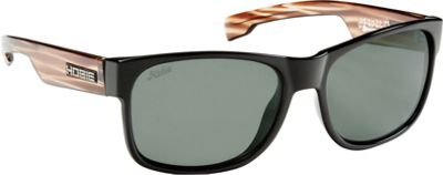 Hobie Eyewear Dogpatch Sunglasses Shiny Black Face W/ Tortoise Frame With Grey PC Le - Hobie Eyewear Sunglasses