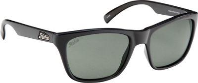Hobie Eyewear Woody Sunglasses Shiny Black Frame With Grey PC Lens - Hobie Eyewear Sunglasses