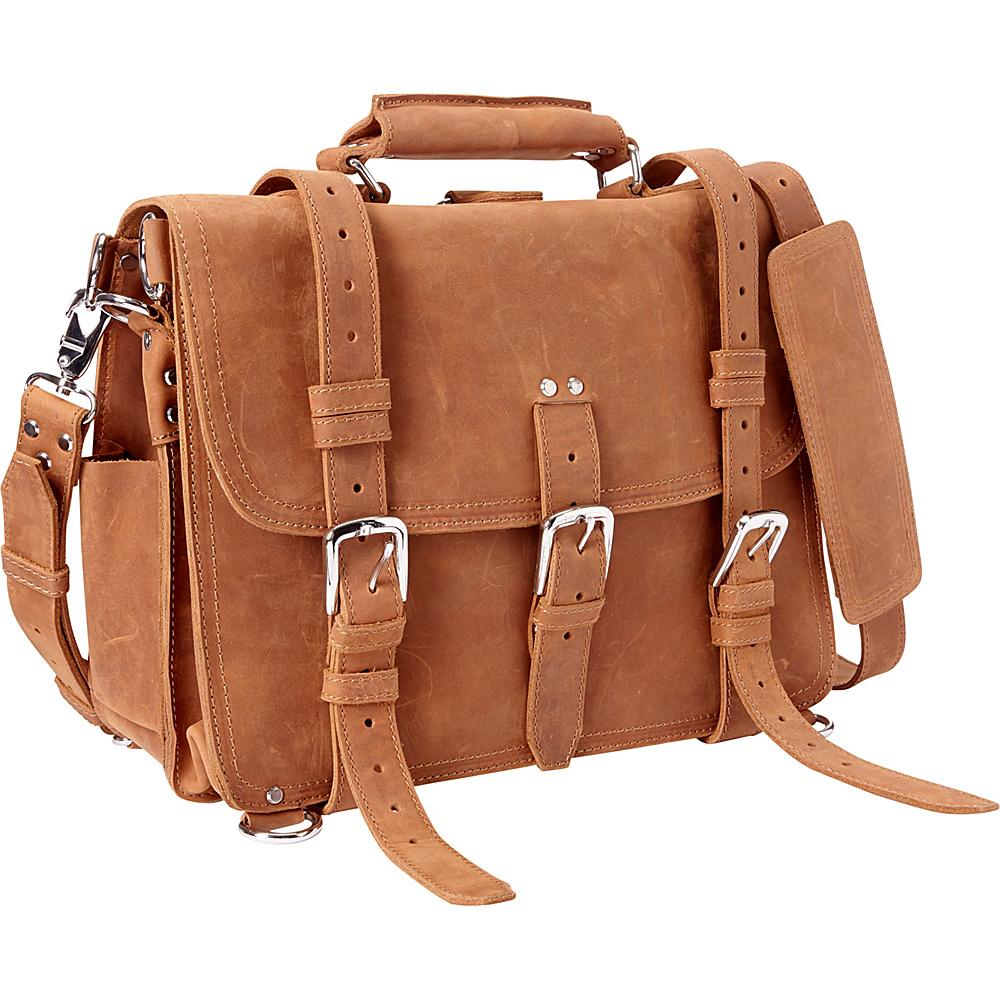 Vagabond Traveler 16 Large Full Leather Briefcase & Backpack Brown - Vagabond Traveler Non-Wheeled Business Cases - Work Bags & Briefcases, Non-Wheeled Business Cases