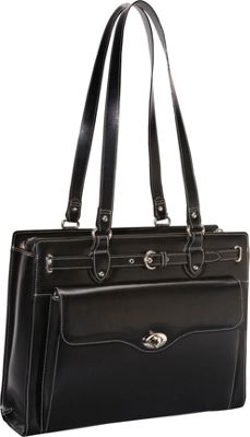 McKlein USA McKlein USA Joliet 15 inch Leather Laptop Tote EXCLUSIVE Black - McKlein USA Women's Business Bags