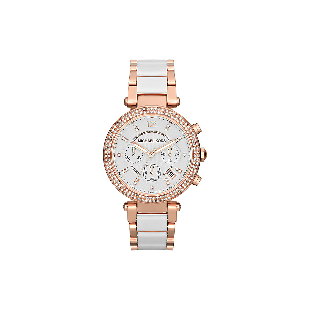 Michael Kors Watches Parker Watch White Rose Gold Michael Kors Watches Watches