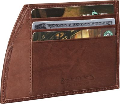 Rogue Wallets Rogue Wallets RFID Traveler Series Money Clip Brown - Rogue Wallets Men's Wallets