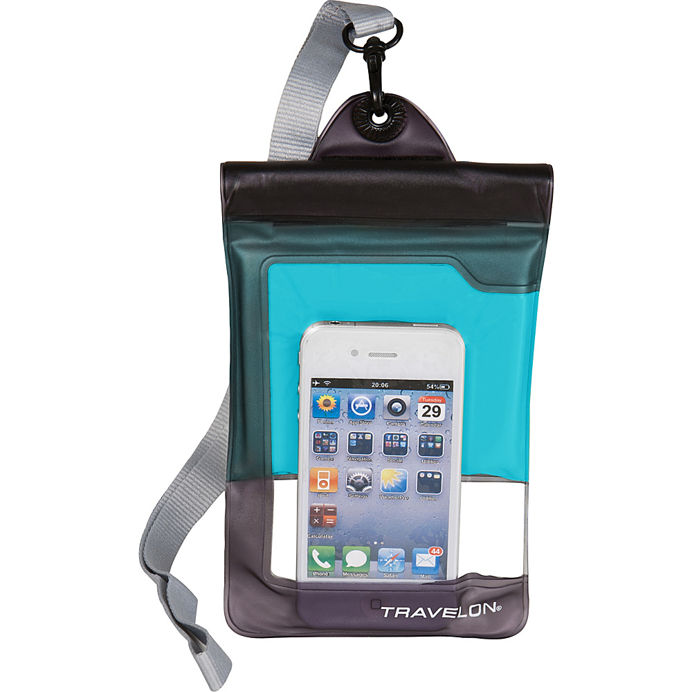Travelon Waterproof Smart Phone/ Digital Camera Case Blue - Travelon Electronic Cases - Technology, Electronic Cases