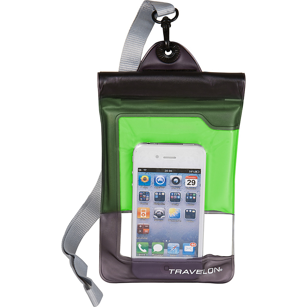 Travelon Waterproof Smart Phone/ Digital Camera Case Green - Travelon Electronic Cases - Technology, Electronic Cases
