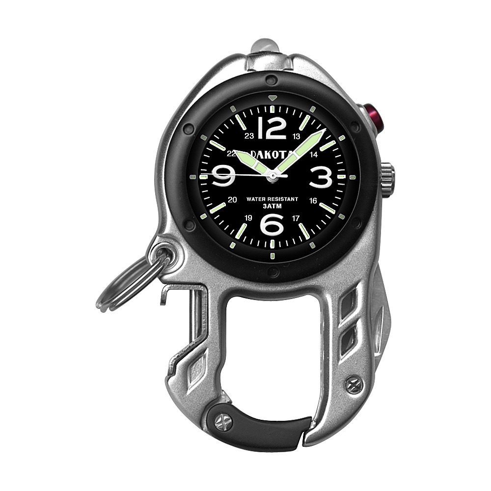 Dakota Watch Company Zip Clip Silver with Black - Dakota Watch Company Watches