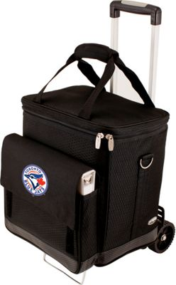Picnic Time Cellar w/ Trolley - MLB Teams Toronto Blue Jays - Black - Picnic Time Travel Coolers