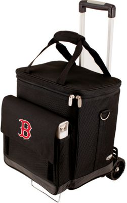 Picnic Time Cellar w/ Trolley - MLB Teams Boston Red Sox - Black - Picnic Time Travel Coolers