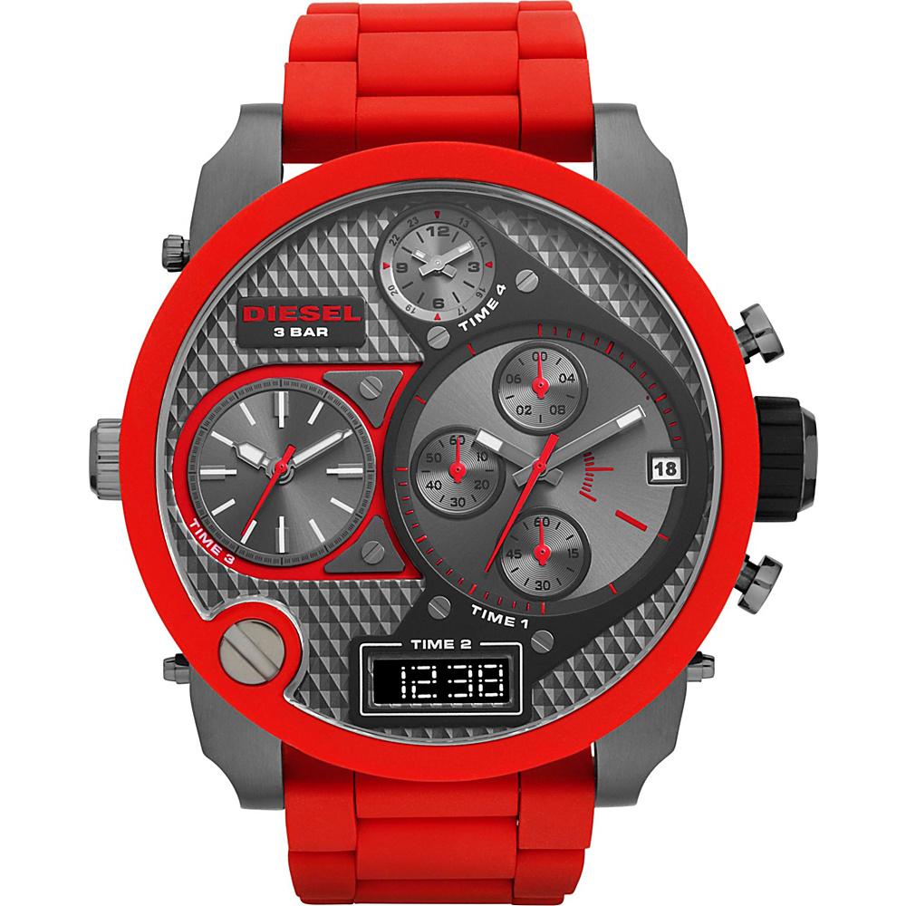 Diesel Watches Mr. Daddy Red/ Gunmetal - Diesel Watches Watches