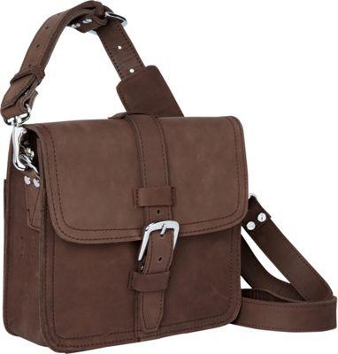 "Vagabond Traveler 10"" Leather Satchel Vintage Brown - Vagabond Traveler Other Men's Bags"