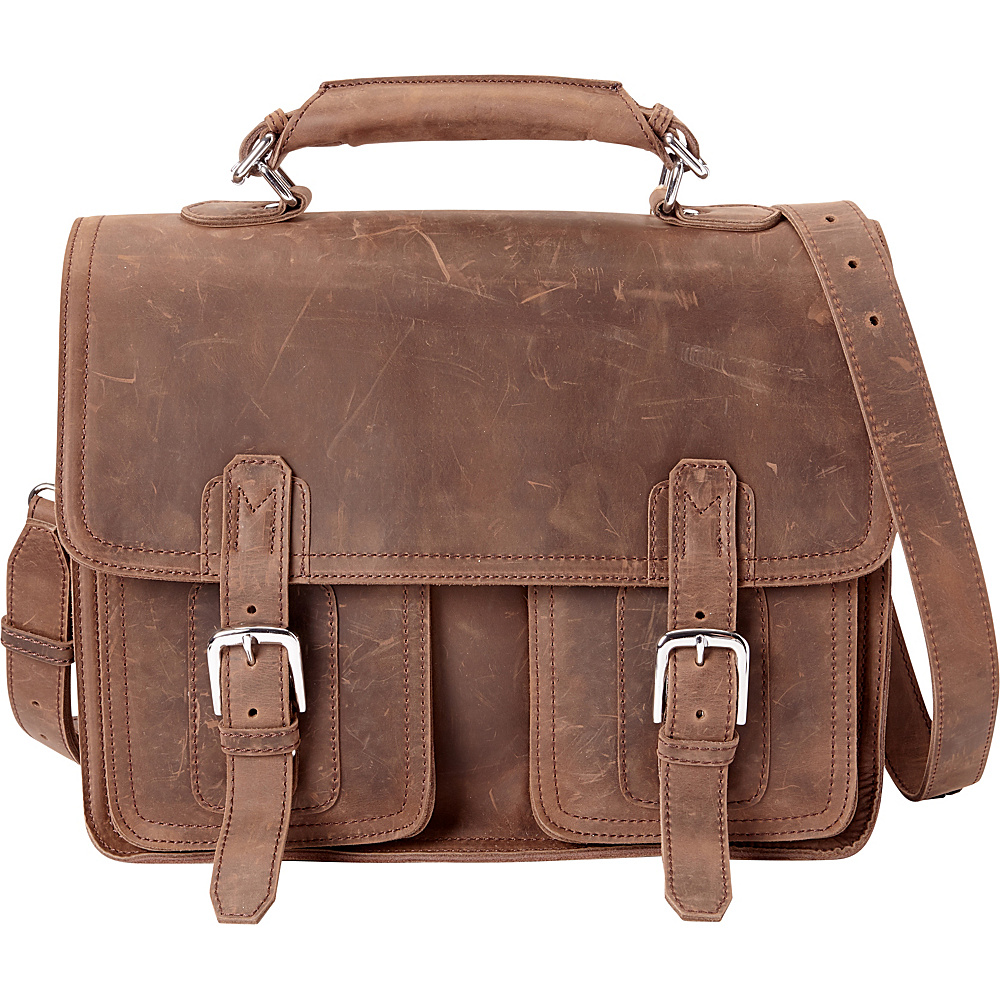 Vagabond Traveler 16 Pro Leather Laptop Briefcase Distress - Vagabond Traveler Non-Wheeled Business Cases - Work Bags & Briefcases, Non-Wheeled Business Cases