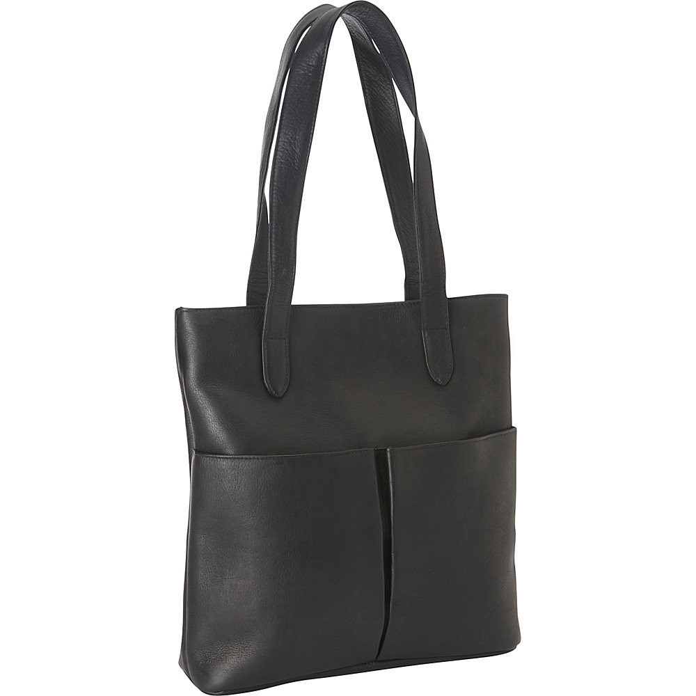 Le Donne Leather Destination Tote Black - Le Donne Leather Leather Handbags - Handbags, Leather Handbags