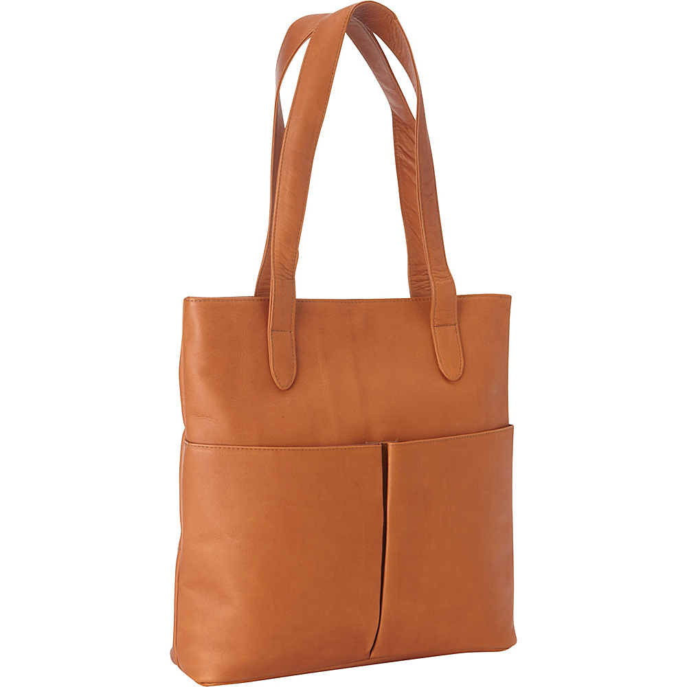 Le Donne Leather Destination Tote Tan - Le Donne Leather Leather Handbags - Handbags, Leather Handbags