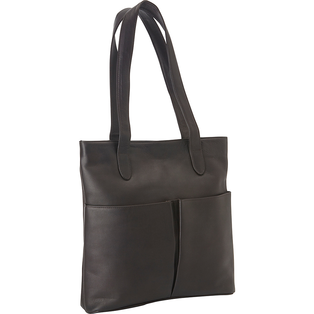 Le Donne Leather Destination Tote Cafe - Le Donne Leather Leather Handbags - Handbags, Leather Handbags