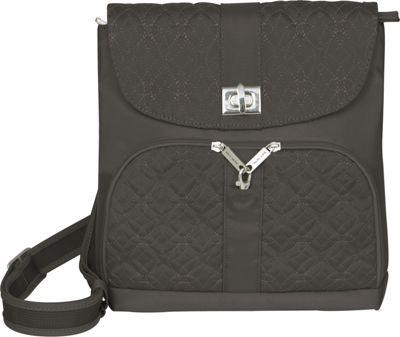 Travelon Anti-Theft Signature Messenger Bag Truffle - Travelon Fabric Handbags