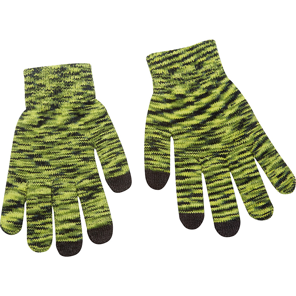 Magid Multi Colored Touch Screen Gloves Green Magid Hats Gloves Scarves