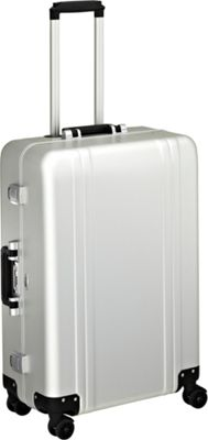 Zero Halliburton Classic Aluminum 26 inch 4 Wheel Spinner Travel Case Silver - Zero Halliburton Hardside Checked
