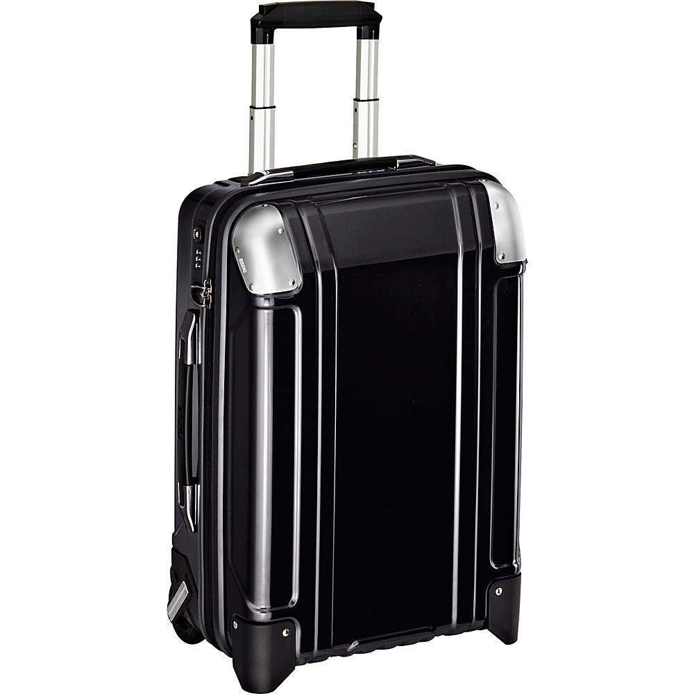 Zero Halliburton Geo Polycarbonate Carry On 2 Wheel Travel Case Black Zero Halliburton Hardside Carry On