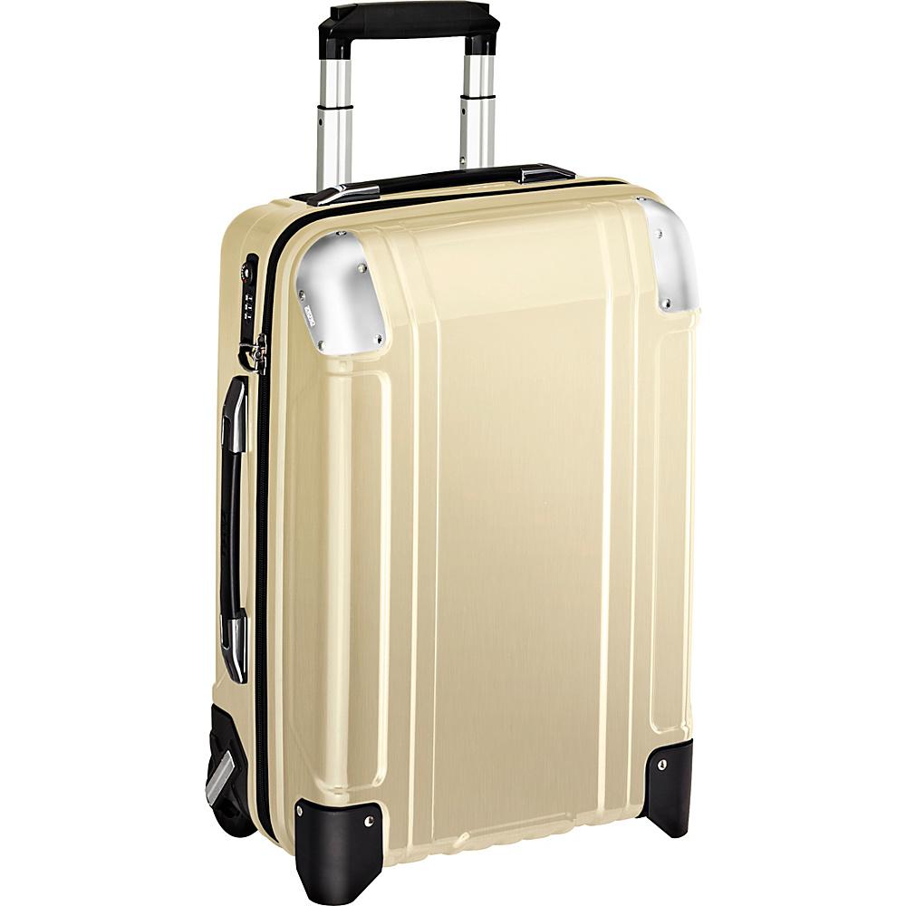 Zero Halliburton Geo Polycarbonate Carry On 2 Wheel Travel Case Polished Gold PG Zero Halliburton Hardside Carry On