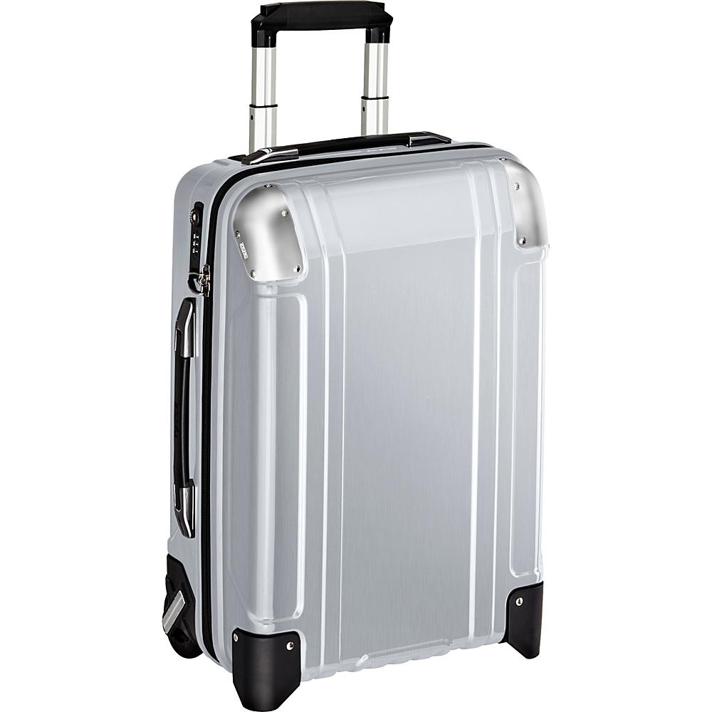 Zero Halliburton Geo Polycarbonate Carry On 2 Wheel Travel Case Silver Zero Halliburton Hardside Carry On