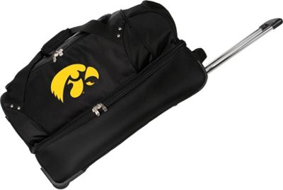 Denco Sports Luggage NCAA University of Illinois Fighting Illini 27 inch Drop Bottom Wheeled Duffel Bag Black - Denco Sports Luggage Travel Duffels