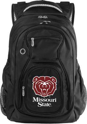 Denco Sports Luggage NCAA Missouri State University Bears 19 inch Laptop Backpack Black - Denco Sports Luggage Laptop Backpacks