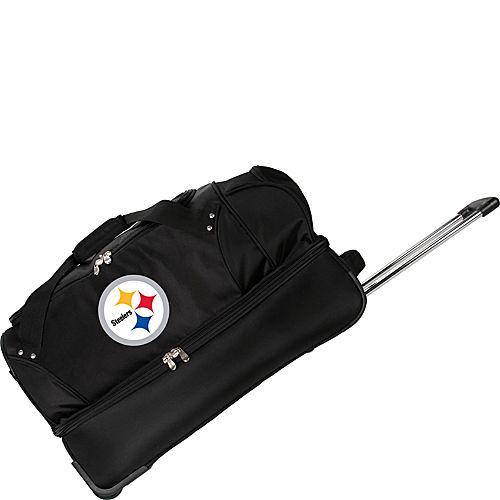 "Denco Sports Luggage NFL Pittsburgh Steelers 27"" Drop Bottom Wheeled Duffel Bag at Sears.com"