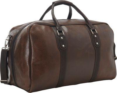 Piel Vintage Leather Weekender Duffel Vintage Brown - Piel Rolling Duffels