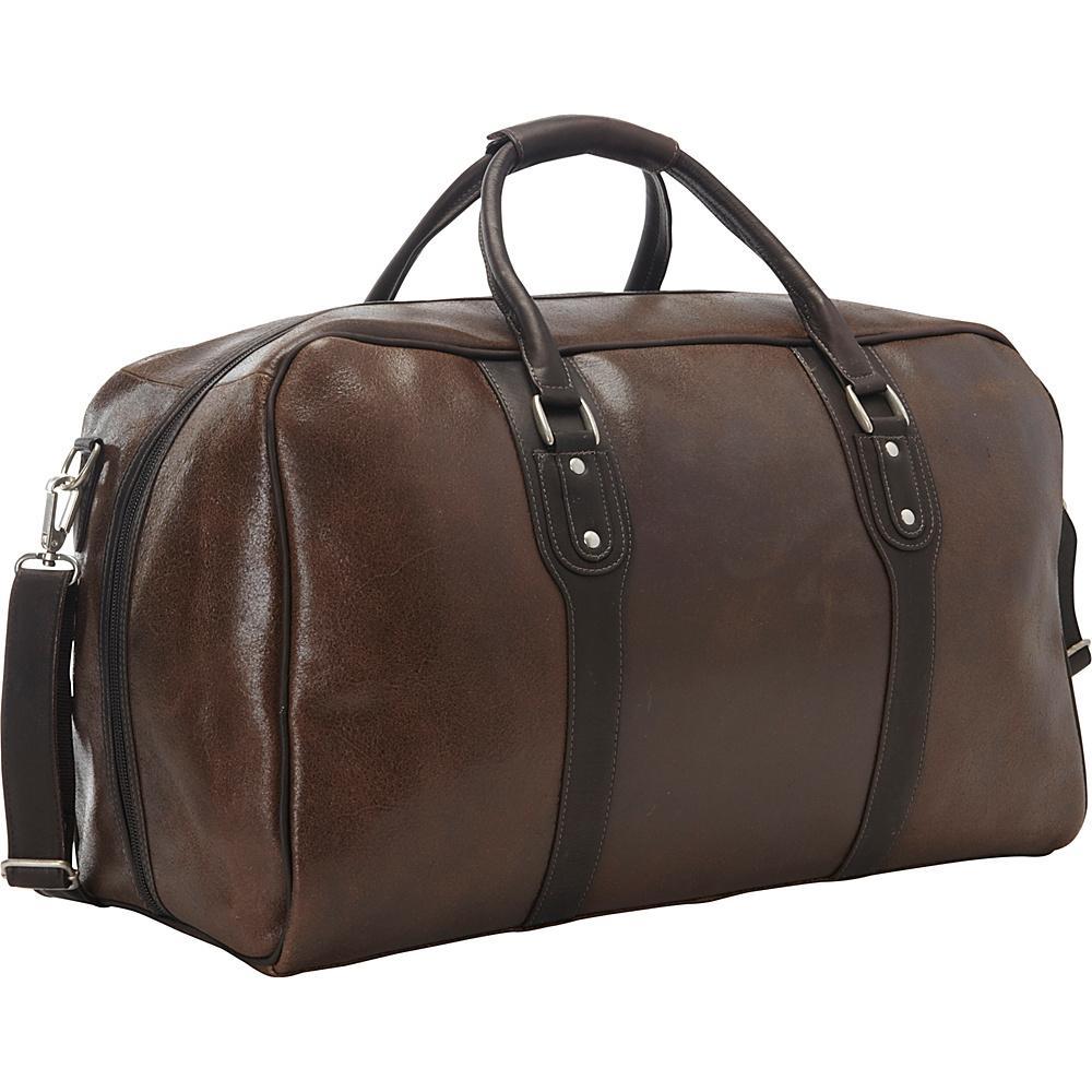 Piel Vintage Leather Weekender Duffel Vintage Brown - Piel Rolling Duffels - Luggage, Rolling Duffels