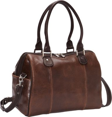 Piel Vintage Leather Small Satchel Vintage Brown - Piel Leather Handbags