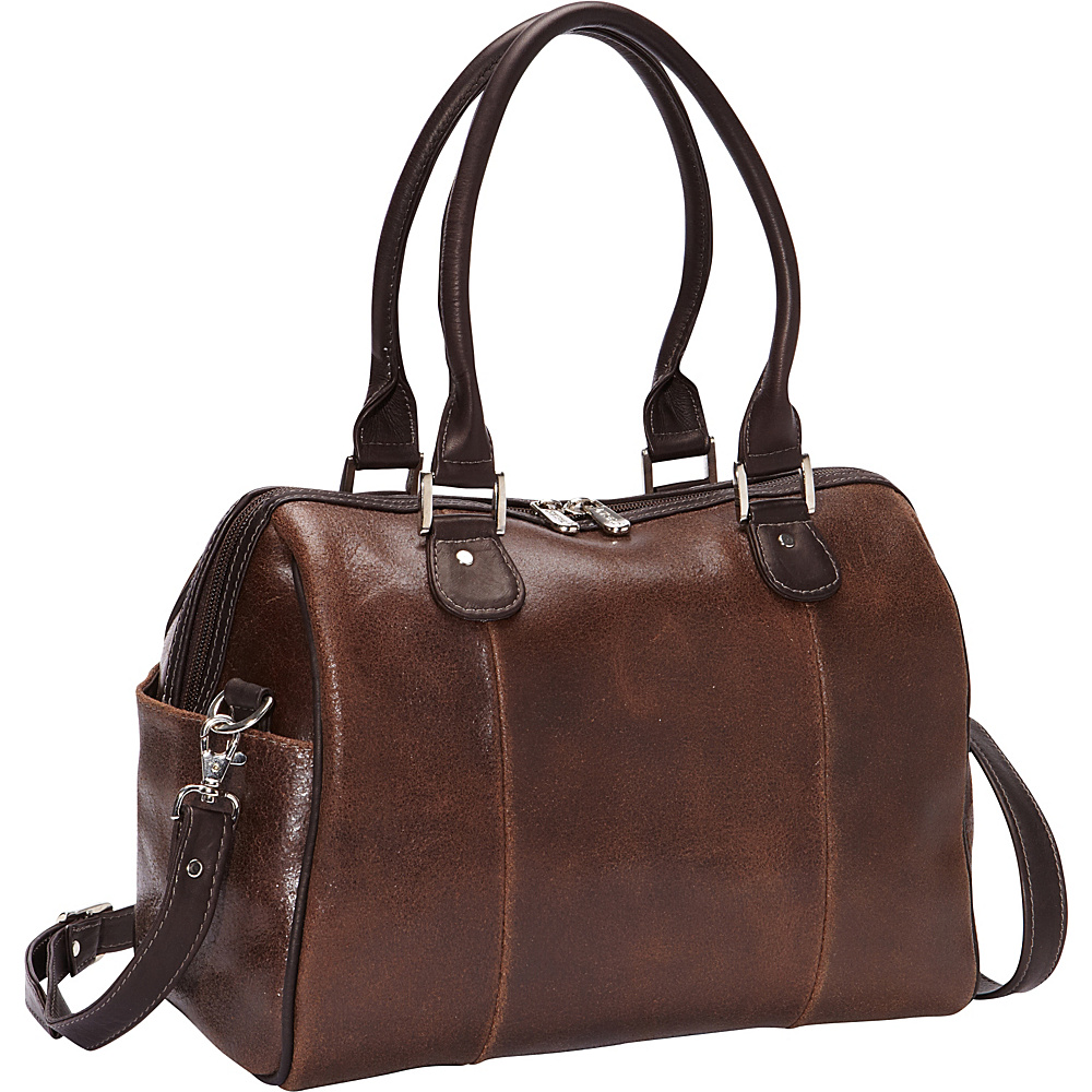 Piel Vintage Leather Small Satchel Vintage Brown - Piel Leather Handbags - Handbags, Leather Handbags