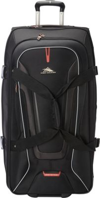 High Sierra AT7 32 inch Wheeled Duffel with Backpack Straps Black - High Sierra Travel Duffels