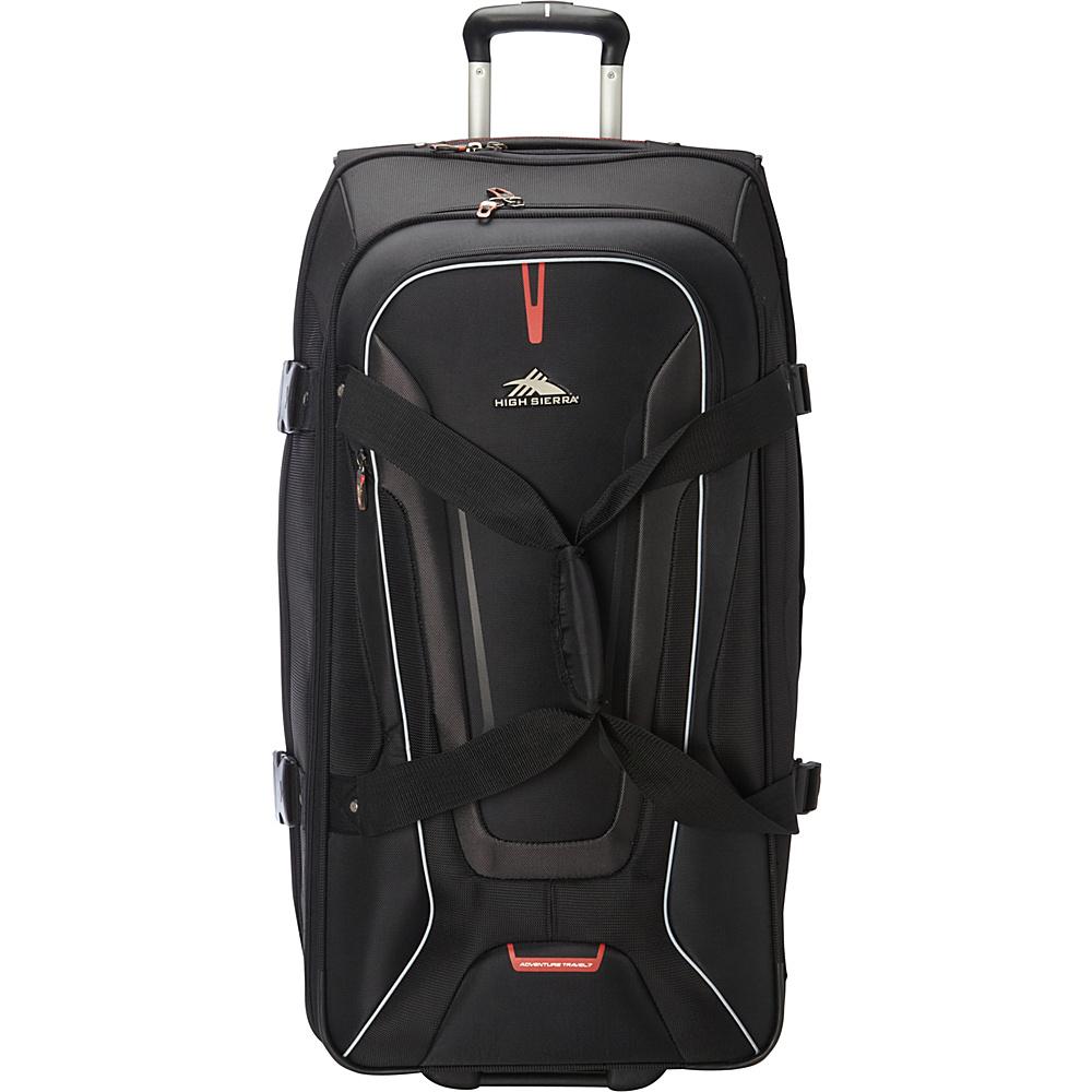 High Sierra AT7 32 inch Wheeled Duffel with Backpack Straps Black - High Sierra Travel Duffels