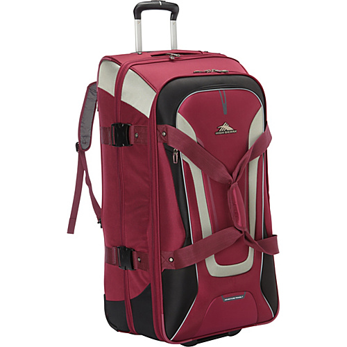 High Sierra AT7 32 inch Wheeled Duffel with Backpack Straps Boysenberry - High Sierra Travel Duffels