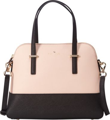 kate spade new york Cedar Street Maise Convertible Satchel Soft Rosette/Black - kate spade new york Designer Handbags