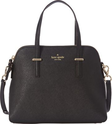 kate spade new york Cedar Street Maise Convertible Satchel Black - kate spade new york Designer Handbags