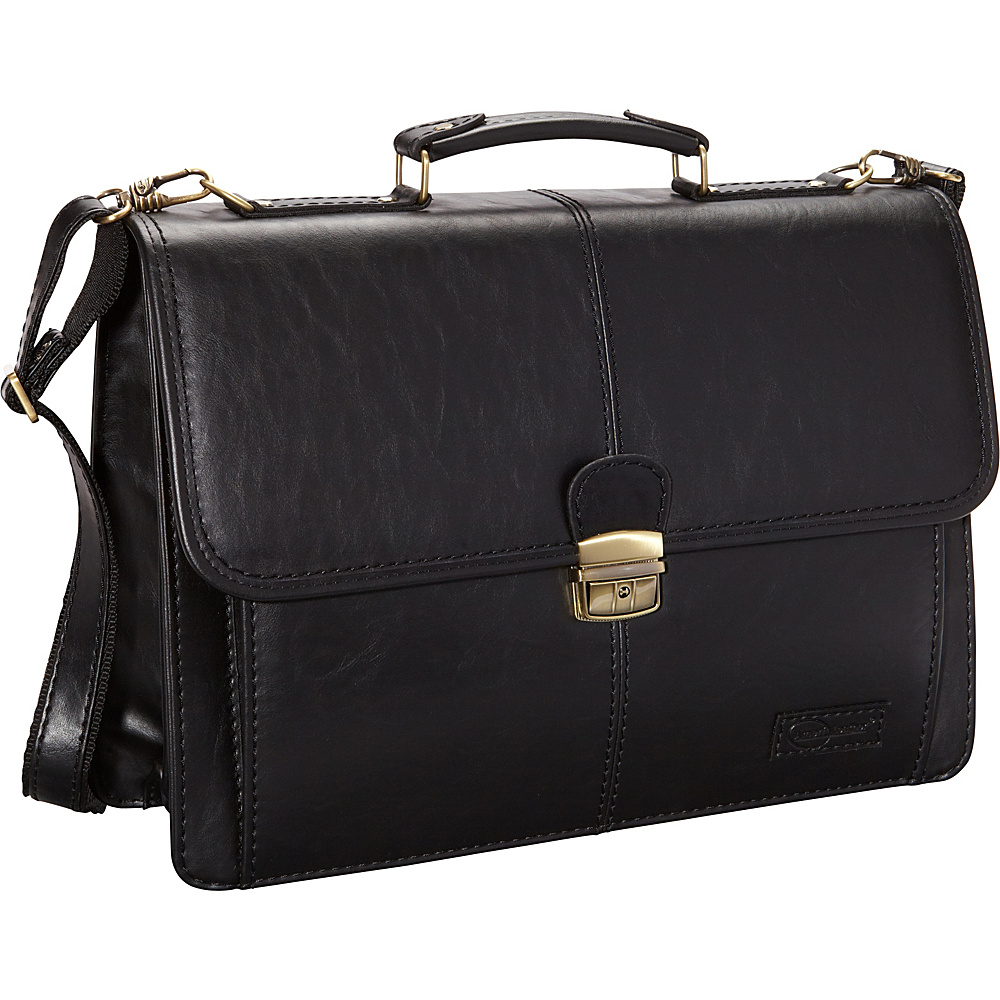 AmeriLeather Jefferson Executive Briefcase Black - AmeriLeather Non-Wheeled Business Cases - Work Bags & Briefcases, Non-Wheeled Business Cases