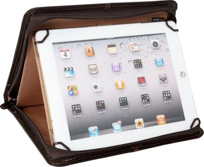 SOLO Premiere Leather Universal Tablet Case, 8.5 inch up to 11 inch Espresso - SOLO Electronic Cases
