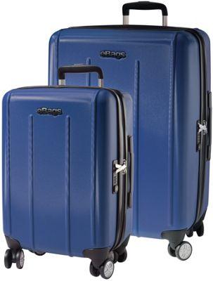 eBags EXO 2.0 Hardside Spinner 2PC Set Blue - eBags Luggage Sets