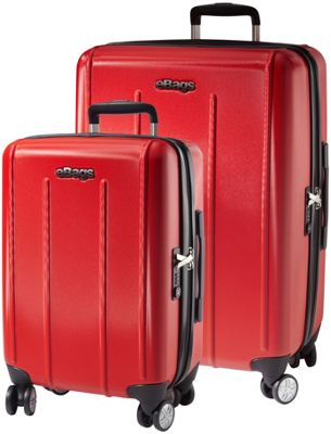 eBags EXO 2.0 Hardside Spinner 2PC Set Red - eBags Luggage Sets