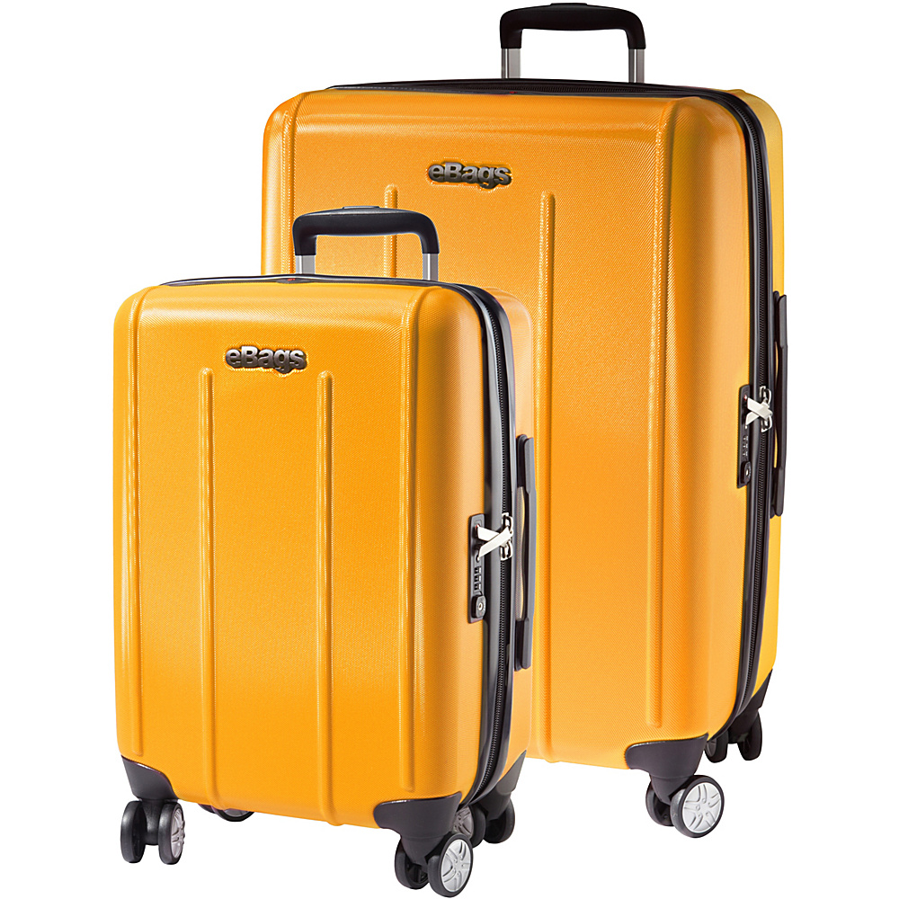 eBags EXO 2.0 Hardside Spinner 2PC Set Yellow eBags Luggage Sets