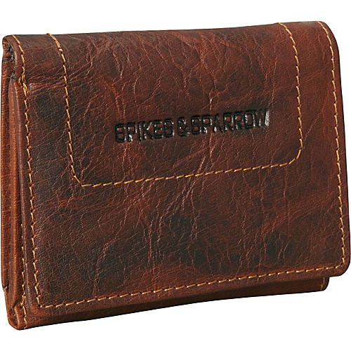 Jack Georges Spikes & Sparrow Collection Trip-Fold Brown - Jack Georges Mens Wallets