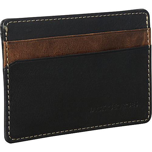Jack Georges Montana Collection Weekender Black - Jack Georges Mens Wallets