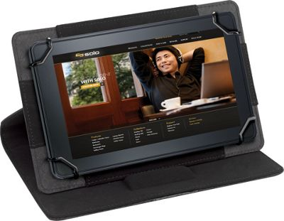 SOLO Summit Universal Tablet Case, fits tablets 5.5 inch up to 8.5 inch Black - SOLO Electronic Cases
