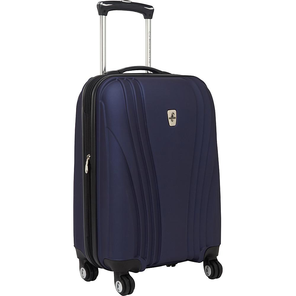 """Atlantic Lumina 20"""" Exp. Carry-On Hardside Spinner Luggage Blue - Atlantic Hardside Luggage"""