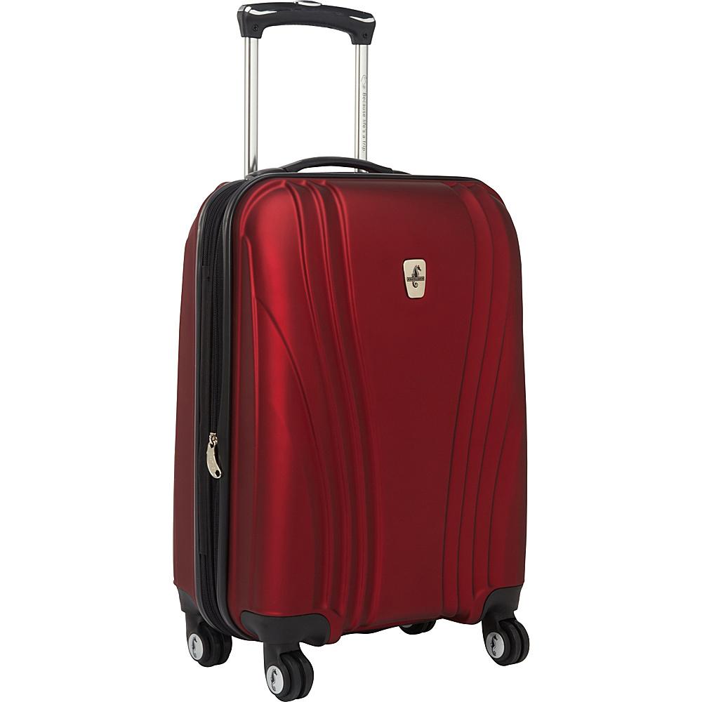 """Atlantic Lumina 20"""" Exp. Carry-On Hardside Spinner Luggage Ruby - Atlantic Hardside Luggage"""