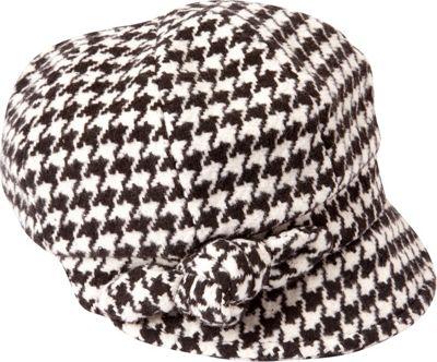 Image of Betmar New York Adele One Size - Black/White Houndstooth - Betmar New York Hats/Gloves/Scarves