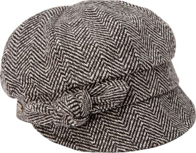 Image of Betmar - Adele (Black Herringbone) Caps